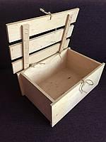 Ящик деревянный 26*17*11 с крышкой для декора, подарков, декупажа, оазиса, цветов