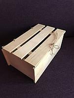 Ящик деревянный 35*17*11 с крышкой для декора, подарков, декупажа, оазиса, цветов