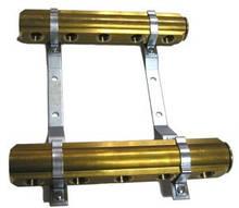 """Коллектор тип R 1"""" с внутр.резьбами 1/2"""" для систем отопления и водоснабжения Внутренние резьбы 1/2"""" Количество отверствий - 11"""