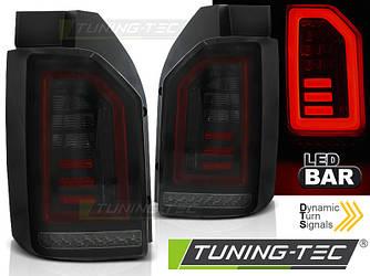 Стопы фонари тюнинг оптика Volkswagen T6 SMOKE BLACK RED