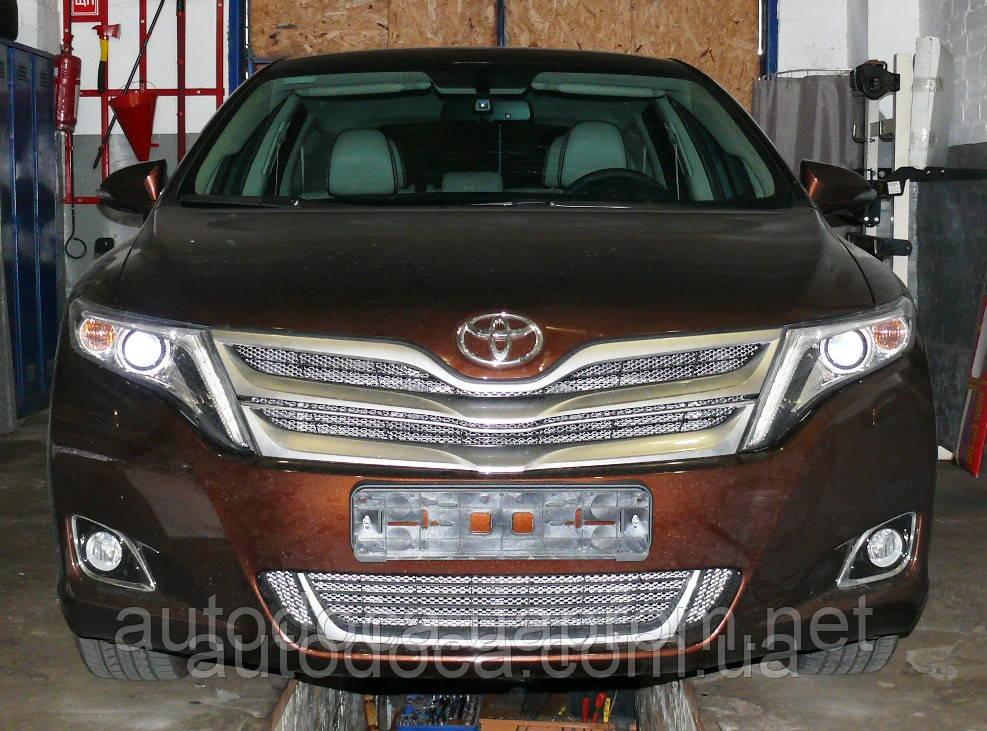 Декоративно-защитная сетка радиатора Toyota Venza  фальшрадиаторная решетка, бампер