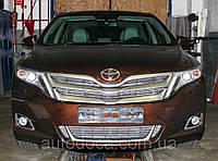 Декоративно-защитная сетка радиатора Toyota Venza  фальшрадиаторная решетка, бампер, фото 1
