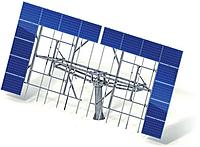 Двухосная система крепления ФЭМ AS-Sunflower-40-2 (для 40 фотомодулей)