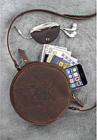 """Кожаная сумка """"Бон-бон"""" Орех. Ручная работа, фото 1"""