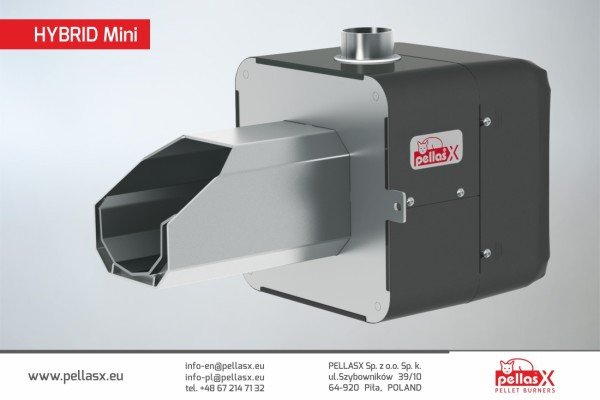 Пеллетная горелка Pellasx HYBRID MINI 26