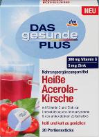 Горячий напиток от простуды.Витамин C, Цинк. Ацерола. Das gesunde Plus Heibgetränk Heibe Acerola-Kirsche 20 шт