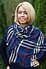 Шарф женский палантин  стильный черный, фото 7