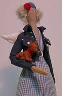 Детская Интерьерная Кукла Тильда дама с собачкой