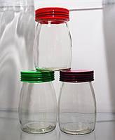 Набор стеклянных банок Karmen с пластиковой крышкой 3 шт на 300 мл EverGlass 1302-К