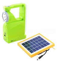 Фонарь переносной LUXURY 2837 RT, 1W+34SMD, USB power bank, солнечная батарея LO