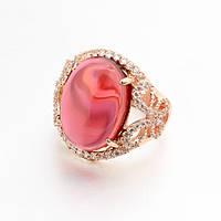 Кольцо ШАХИРИЗАДА ювелирная бижутерия золото 18к опал кристаллы Swarovski