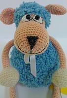 Игрушка Кукла Барашек кучерявый вязаный крючком, фото 1