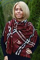 Шарф палантин женский Burberry стильный красный