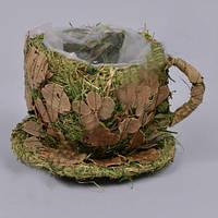 Кашпо Чашка  для декора и флористических композиций