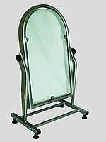 Зеркало напольное металлическое обувное серое 35 см