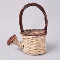 Кашпо Лейка плетенная для декора и флористических композиций