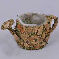 Кашпо Лейка из травы  для декора и флористических композиций