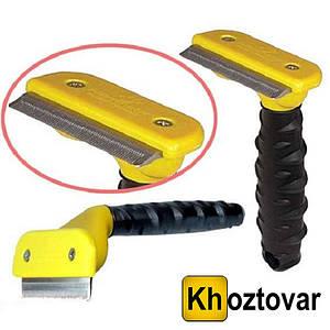 Щітка для грумінгу великих собак Furminator deShedding tool Large Фурминатор Fubnimroat лезо 10,16