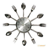 Настенные часы вилки - ложки Silver Fork (8634)