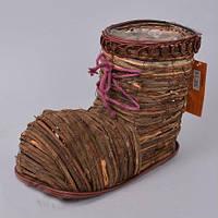 Кашпо плетенное Лапоть  для декора и флористических композиций
