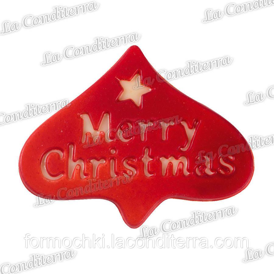 Полиэтиленовая форма для табличек «Merry Christmas» MARTELLATO (8 шт.)