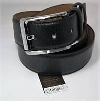 Ремень мужской кожаный (черный)  Andi