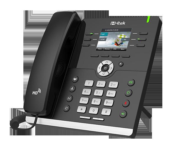 IP-телефон Htek UC923 , HD Voice, цв. дисплей, 3 SIP аккаунта, PoE