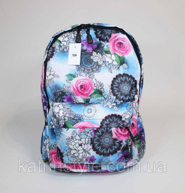 Тканевый рюкзак в цветочный принт