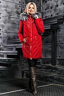 Стёганная зимняя куртка 2348 ,красный( 46-52)