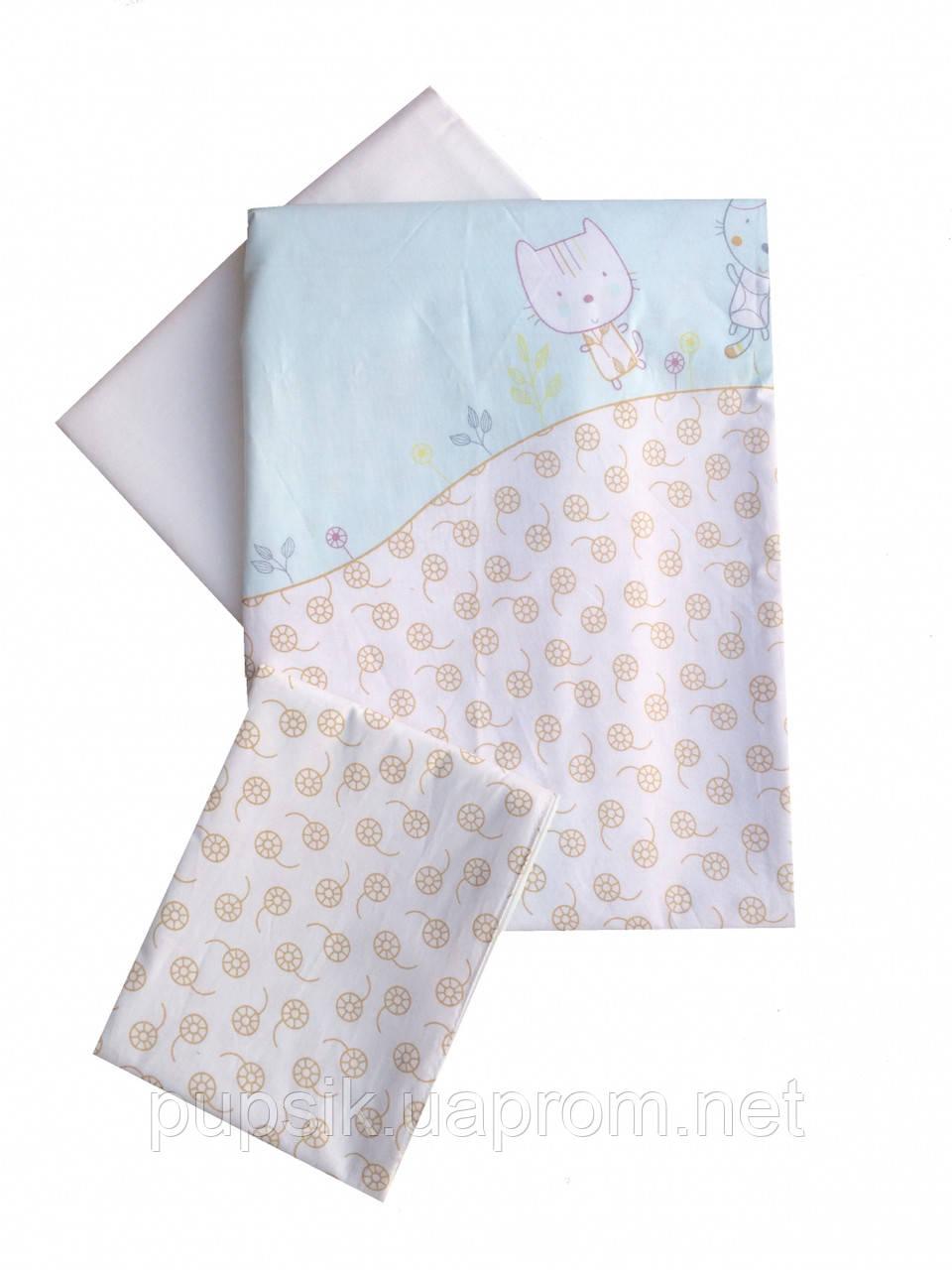 Сменная постель в кроватку Twins Comfort Котики (3 предмета) 004