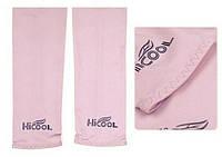 Вело УФ защита рук, нарукавники HiCool, розовые
