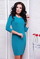 Трикотажное женское изумрудное платье Janine FashionUp 42-44  размеры