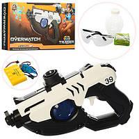 Пістолет CL2 бластер, радіокер., акум., окуляри, водяні кулі, USB, кор., 43,5-24-8 см.