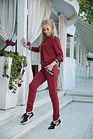 Трикотажный стильный спортивный костюм женский