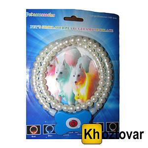 Світиться нашийник для собак у вигляді перлин Pet'a s simulated pearl gleamy necklage