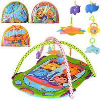 Килимок для немовляти PB101-2-3-4 дуги 2 шт., підвіски 5 шт., 4 види, сумка, 75-58-6 см.