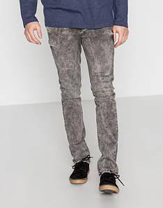 Джинси Pull and Bear - Cерого цвета та узкие со стрейчем (мужcкие джинсы)