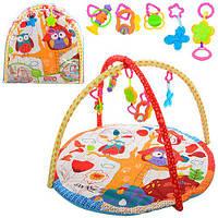 Килимок для немовляти 73101A круглий, дуга 2 шт., підвіски 4 шт., сумка, 62-62-4 см.
