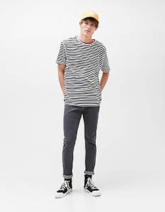 Джинси Bershka - Серого цвета узкие молодежные (мужcкие джинсы)