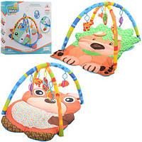Килимок для немовляти JL622-1AC дуги 2 шт., підвіски-пискавки 5 шт., 2 види, кор., 58-45,5-8 см.