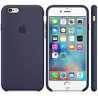 Силиконовый чехол Apple Silicone Case IPHONE 6 Plus ( Dark blue), фото 1