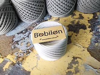 Трикотажная пряжа Bobilon Medium (7-9мм). Белый 50м.
