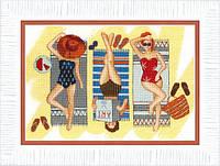 Набор для вышивания крестом Crystal Art Отдых у моря
