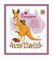 Набор для вышивания крестом Crystal Art Детский мир. Австралия