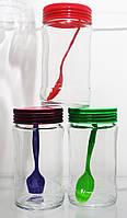 Набор стеклянных банок Bianka с пластиковой крышкой 3 шт на 314 мл EverGlass 1304-К