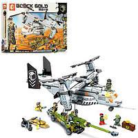 Конструктор 11712 військовий, літак, транспорт, фігурки, 640 дет., кор., 47-33-7 см.