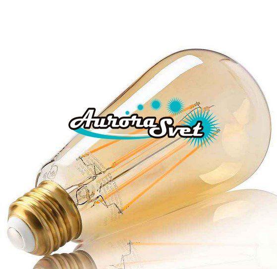 Светодиодная LED лампа Эдисона AR21 4W 2200 K (диммируемая)