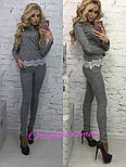 Женский стильный костюм:ангара +кружево ( расцветки), фото 4