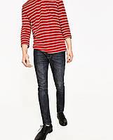 Джинси Zara man - Черного серого цвета та узкие со стрейчем (мужcкие джинсы)