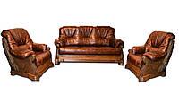 "Кожаный комплект мебели ""Кардинал 5030"" (3р+1+1)"